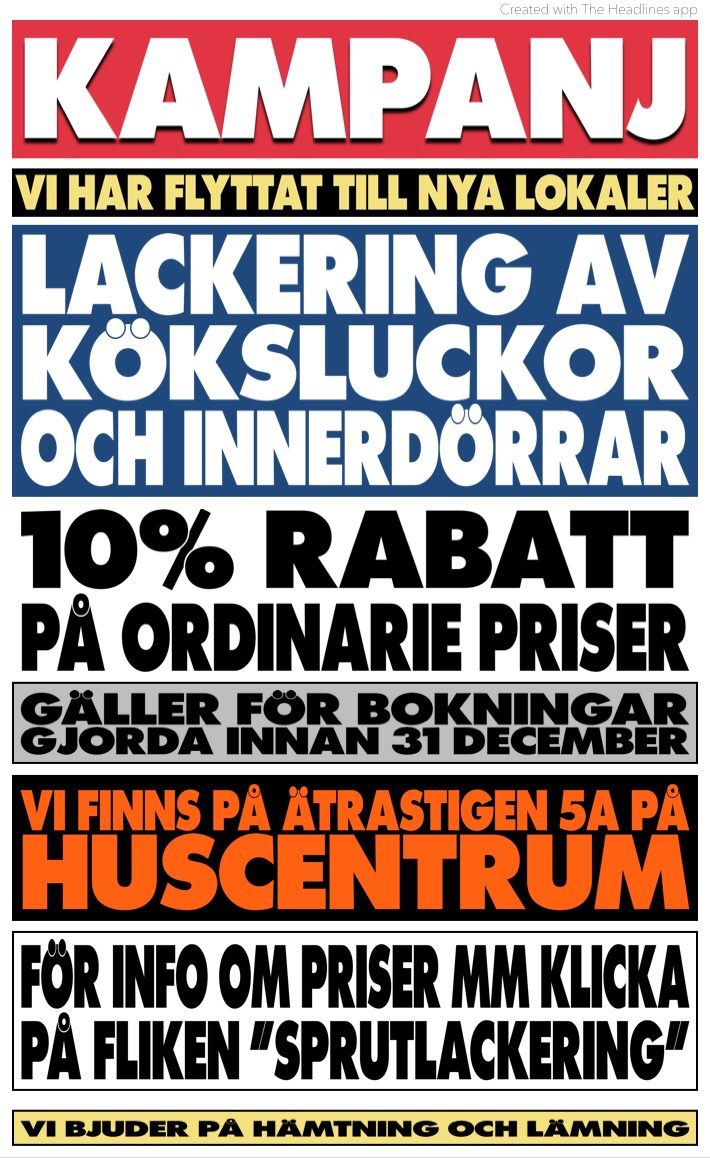 Kampanjpriser på lackering!